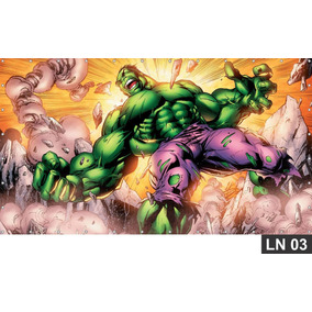 Hulk Vingadores Painel 1,50x1,00m Lona Festa Aniversário