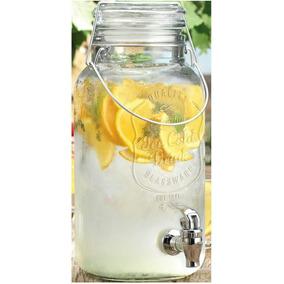 Dispenser Con Canilla Frasco Para Bebidas 4lts De Vidrio