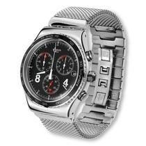 Reloj Swatch Blackie Acero Cronos Nuevo Irony