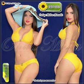 Traje Baño Damas Ultima Moda 2017 Bikinis Straples Semi Hilo