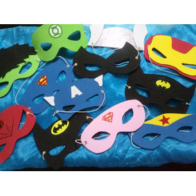 10 Antifaces De Superheroes, Souvenir, Recuerdo, Regalo