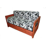 Sofa Sillon Cama 2 Plazas Madera Plegable