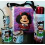 Set Matero Mafalda, Bolso ,termo 1l,mate,bombilla,latas.-