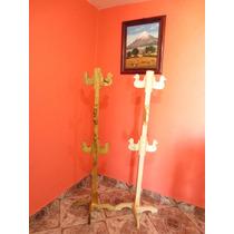 Perchero De Madera Nuevo Mueble Rustico O Natural
