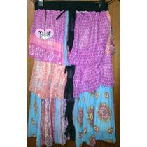 Solnicki Vestido Strapless Falda Plisado Combinado Hermoso!