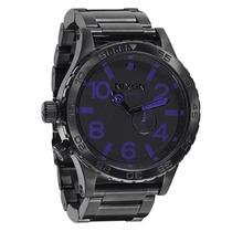 Relógio Masculino Nixon 51-30 All Black Purple