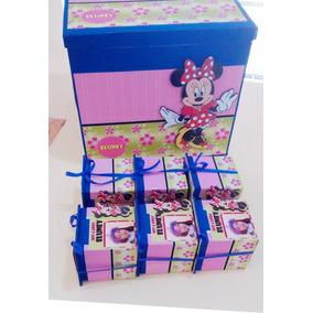 Cajitas Fibrofacil Souvenirs Minie, Mickey X25 Utodo Disney