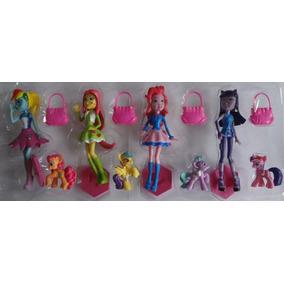 Brinquedo My Little Pony Kit Com 8 Lindos Personagens