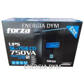 No-break Forza Sl761 Lcd,750va/375w,30 Mtos,usb,6 Cont;2 Año