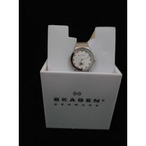 Reloj Skagen Denmark Ultra Delgado Gris Plateado Dama