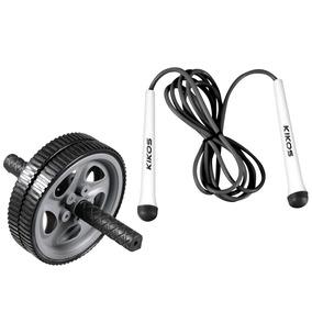 Roda De Exercícios Abdominais + Corda De Pular Light- Kikos