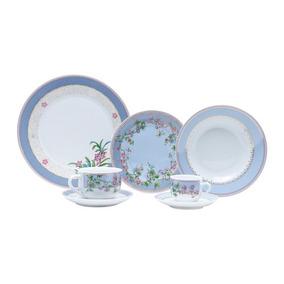 Aparelho Jantar Porcelana Cléres 42 Peças - Wolff - 17244