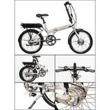 Bicicleta Elétrica Dobrável Motor Alumínio