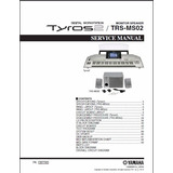 Manual De Serviço Do Teclado Yamaha Tyros 2