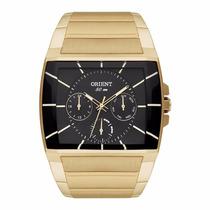 Relógio Orient Masculino Ggssm001 P1kx Dourado Quadrado
