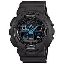 Relógio Casio G-shock Ga-100 C-8a H.mundial 5 Alarmes 200m C