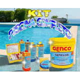 Kit Genco Limpa Piscina 4 Completo Ph Clarif Cloro Flutuador