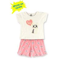 Pijama Infantil Feminino Hering Kids Brilha No Escuro