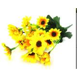 10 Mini Buquês De Girassol Flores Artificiais - 10x 425217