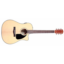 Violão Fender Cd-60 Ce Cd60 Dreadnought Natural Com Case
