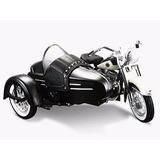 Moto Harley Davidson Flh Duo Glide 58 Sidecar 1:18 Maisto