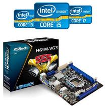 Tarjeta Madre H61 Intel Core I3 I5 I7 Ddr3 1600 Cpu Lga 1155