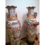 Par Jarrones Porcelana China 1.70mts Unicos Impecables
