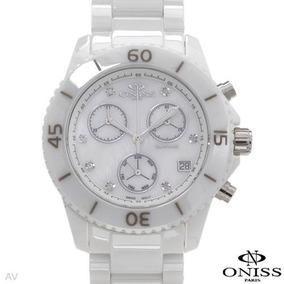 Reloj Oniss Chrono Suizo, Ceramica, Zafiro, 7 Diamantes Sp0