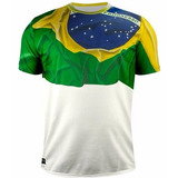 Camisa Brasil Braziline Bandeira Oficial 50% Off