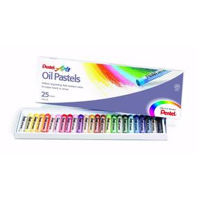 Giz Pastel Oleoso Pentel 25 Cores
