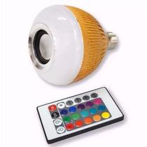 Lâmpada Led Musica Rgb Colorido Bluetooth Caixa Som E27