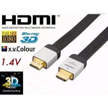 Cabo Hdmi Hi Speed 1.4a Xbox Ps3 Ps4 Lg Sansung Sony 4k 3d