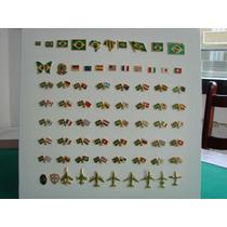 Pins Da Bandeira Do Brasil E Cruzadas Kit Com 5 Peças