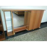 Mueble De Baño En Mdf Melaminico..c/espejo Puertas Y Repisas