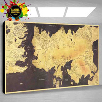 Cuadro De Game Of Thrones Mapa -todas Las Series Que Quieras