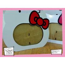 Souvenir Personaliza Madera 8x10cm Portaretrato Hello Kitty