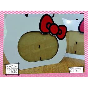 Souvenir Personaliza Madera 10x15cm Portaretrato Hello Kitty