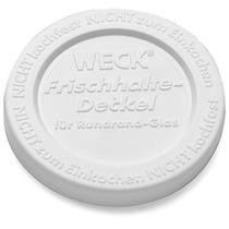 Tampa De Plástico Branca 100mm Para Pote Grande - Weck