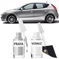 Tinta Tira Risco Automotivo Hyundai I30 Prata Cor Original**