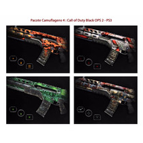 Kit 4: Camuflagens Call Of Duty Black Ops 2 - Psn Codigo Ps3