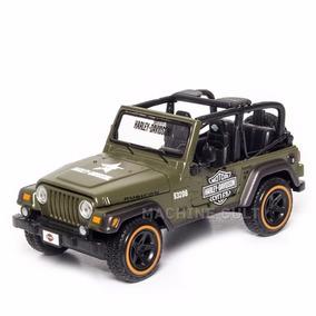 Miniatura Jeep Wrangler Rubicon Harley-davidson Militar 1:24