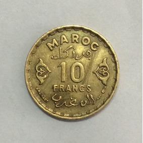Moneda Marruecos 10 Francos 1951