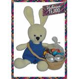 Conejo De Pascua Tejido Al Crochet Con Huevos