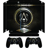 Adesivo Skin Ps4 2 Controles Assassins Creed Black Chest
