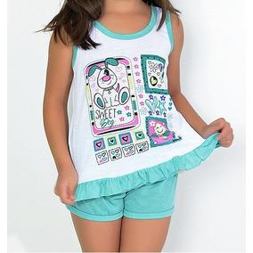 Baby Doll Infantil Em Malha Ref.059 Roupas De Menina Atacado