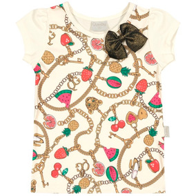 Blusa Infantil Estampada Frutas - Quimby