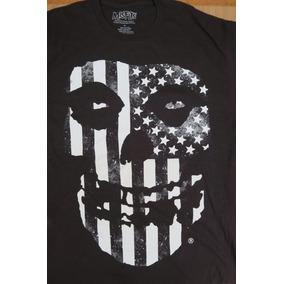 Camiseta Grupo Punk Rock Misfits Original Negra Talla Xl