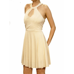 Vestido Corto Fiesta De Lurex, Mujer, Brishka, M-0094