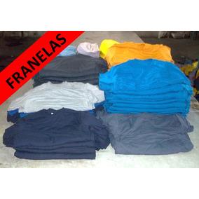 Franelas Unicolor Cuello Redondo 100%algodon Para Estampar