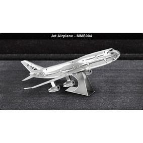 Fascinations Avión Jet Rompecabezas 3d Metal P/ Armar Puzzl